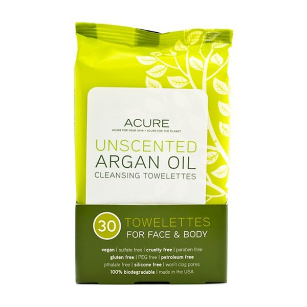 Unscented Argan Oil Cleansing Towelettes