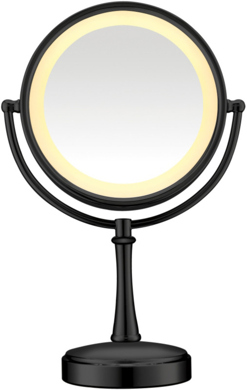 Black Touch Control Lighted Makeup Mirror