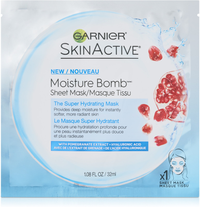 Online Only SkinActive Moisture Bomb The Super Hydrating Sheet Mask